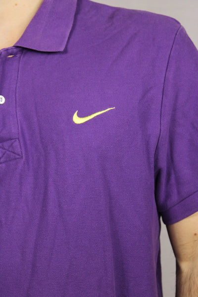 Nike Cotton Unisex Branded Polo Purple Size XL-Tees & Polos-Bij Ons Vintage-32-Bij Ons Vintage