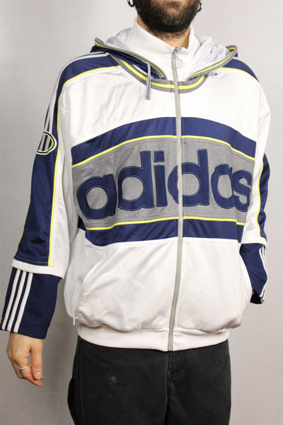 Adidas Polyester Unisex Branded Sport Jackets Size L-Jackets-Bij Ons Vintage-L-Bij Ons Vintage