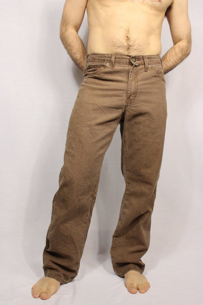 Dickies Cotton Men's Branded Jeans Brown Size 32/30-Trousers-Bij Ons Vintage-32/30-Bij Ons Vintage