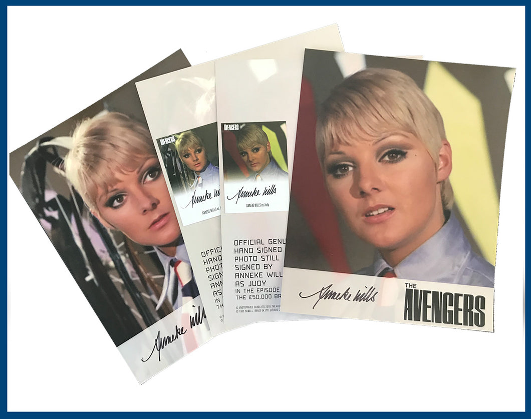 Anneke Wills 1/50 Signed The Avengers 8x10 Photo Still