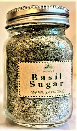 Basil Sugar (3.0 oz)