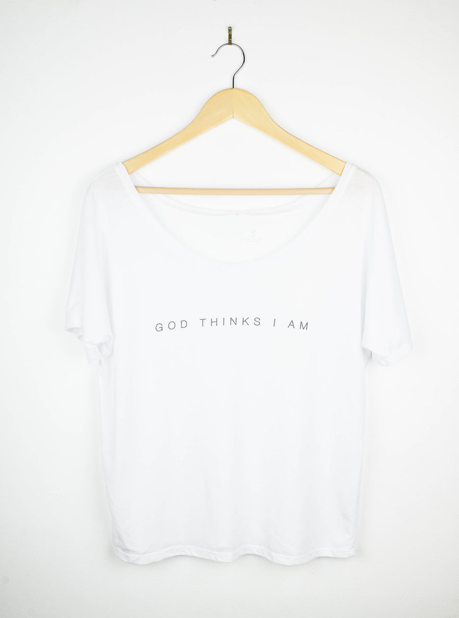 God Thinks I Am Relaxed Tee - White