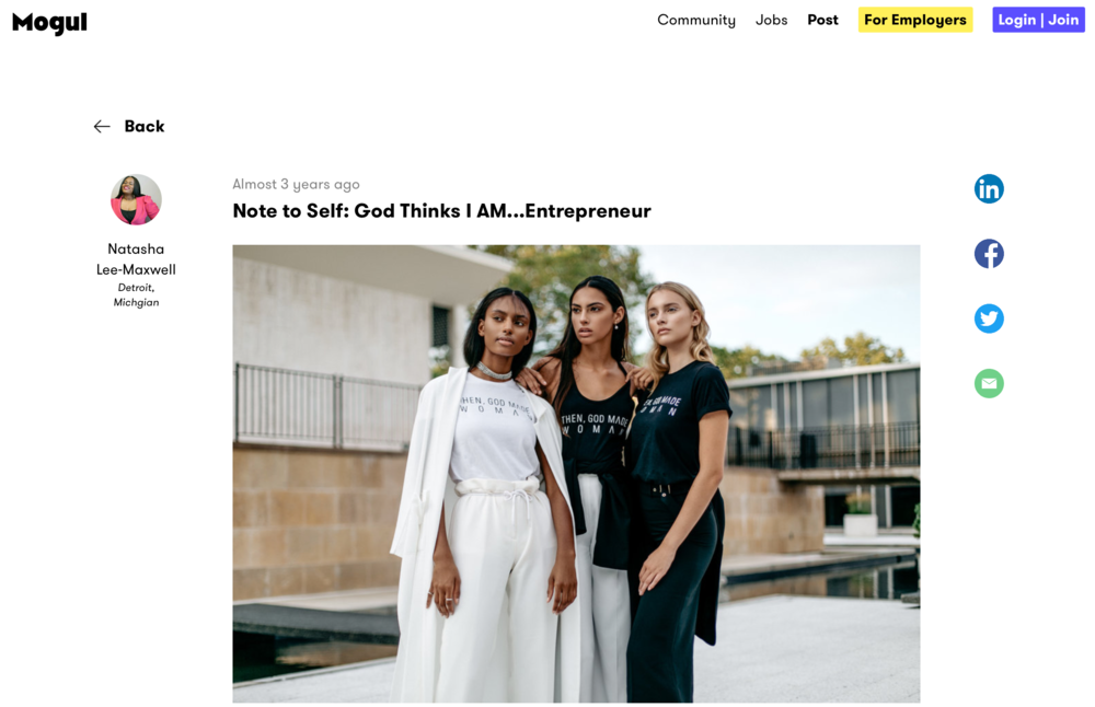 Check out our founder, Alana Frazier's interview on Mogul.com, an award-winning platform that enables women worldwide to connect, share information, and access knowledge from each other.