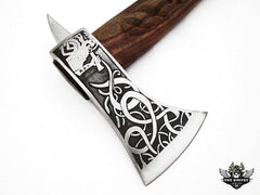 TNZ-607 Exclusive Engraved D2 Steel Hatchet 18