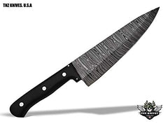 TNZ-556 USA Damascus Handmade Chef Kitchen Knife 13.5