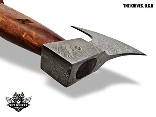 "TNZ-604 Damascus Axe 19"" Long, 5.5"" EDGE, 6.5"" Head width & Rose Wood Handle"