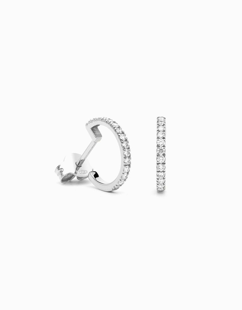 Arracades Diamond Hoop White · 0,20ct