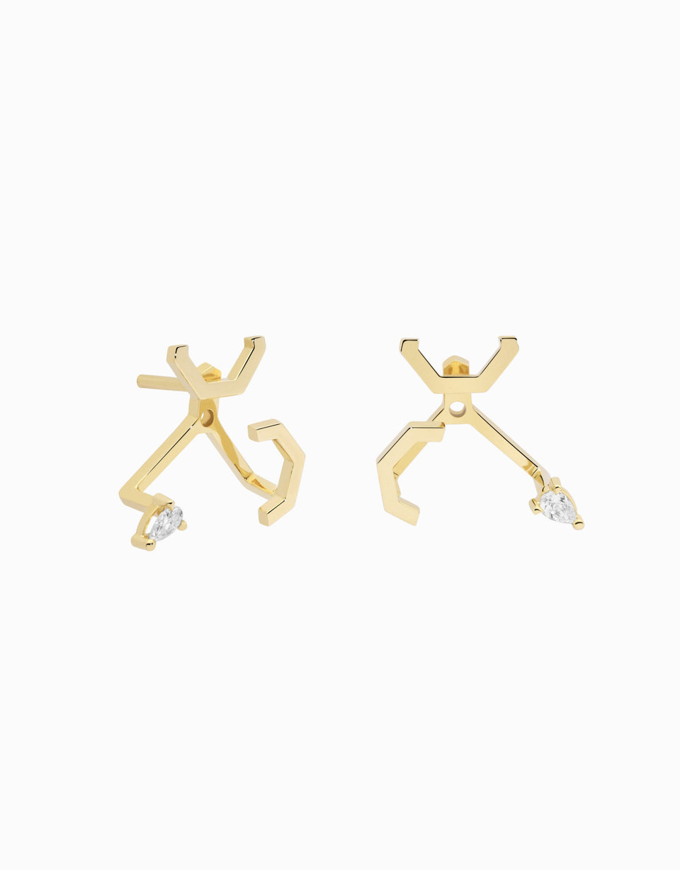 Pendientes Fragment Pear · 0,12ct