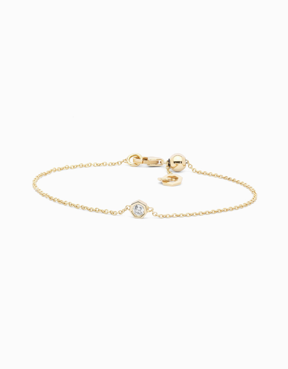 Pulsera Diamond · Oro Amarillo