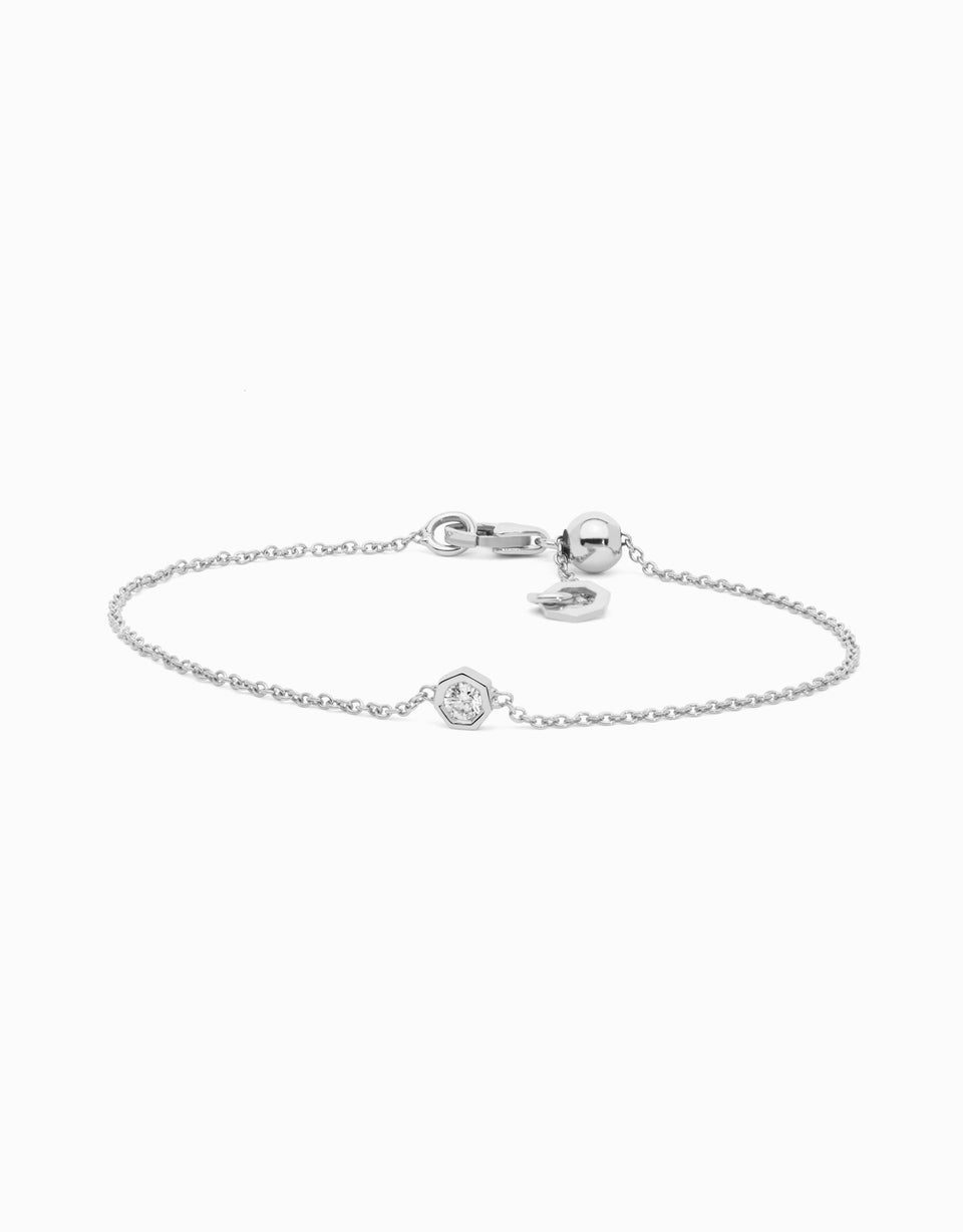 Pulsera Diamond · Oro Blanco