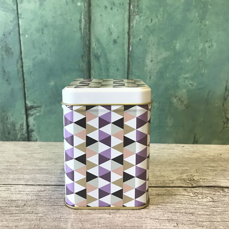 Tea Caddy Small Patterned