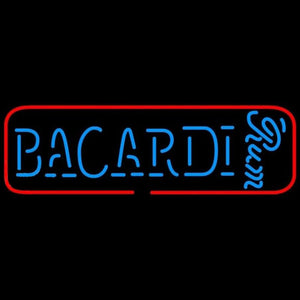 Bacardi Rum Sign Handmade Art Neon Sign