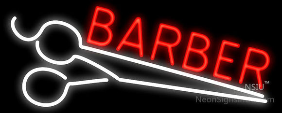 Barber Scissors Neon Sign