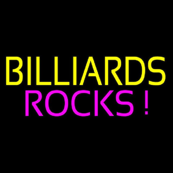 Billiards Rocks 3 Handmade Art Neon Sign