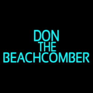 Blue Don The Beachcomber Tiki Bar Handmade Art Neon Sign