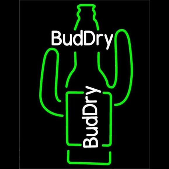 Bud Dry Cactus Beer Sign Handmade Art Neon Sign