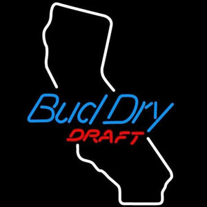 Bud Dry California Beer Sign Handmade Art Neon Sign