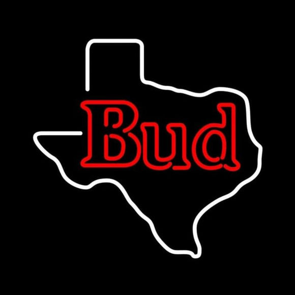 Bud Texas State Beer Sign Handmade Art Neon Sign