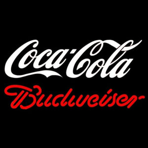 Budweiser Coca Cola White Beer Sign Handmade Art Neon Sign