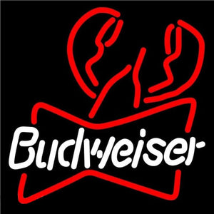 Budweiser Lobster Beer Sign Handmade Art Neon Sign