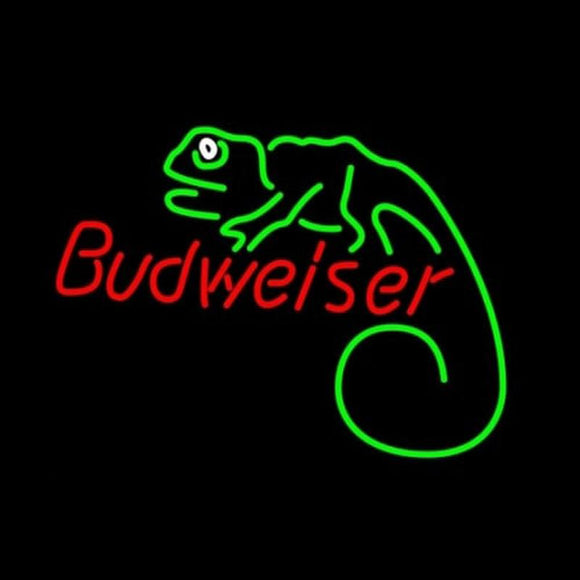 Budweiser Louie Lizard Handmade Art Neon Sign
