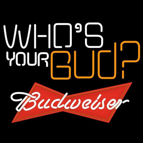 Budweiser Whos Your Bud Beer Sign Handmade Art Neon Sign