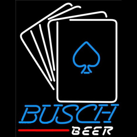 Busch Cards Beer Sign Handmade Art Neon Sign