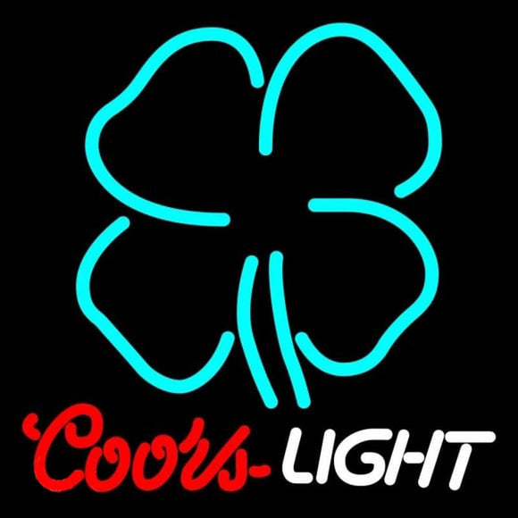 Coors Light CloverBeer Sign Handmade Art Neon Sign