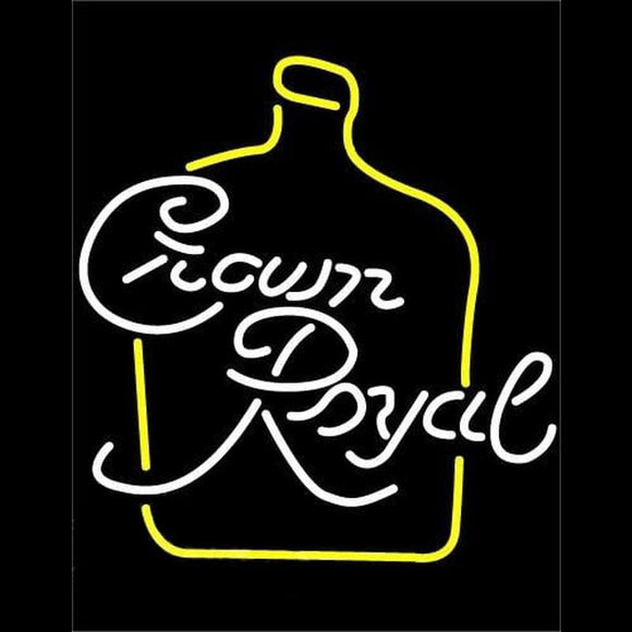 Crown Royal Beer Sign Handmade Art Neon Sign