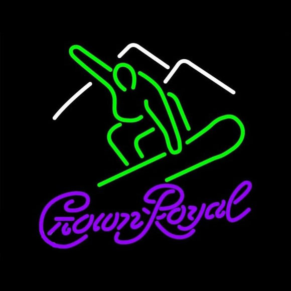 Crown Royal Logo Surfboard Beer Sign Handmade Art Neon Sign