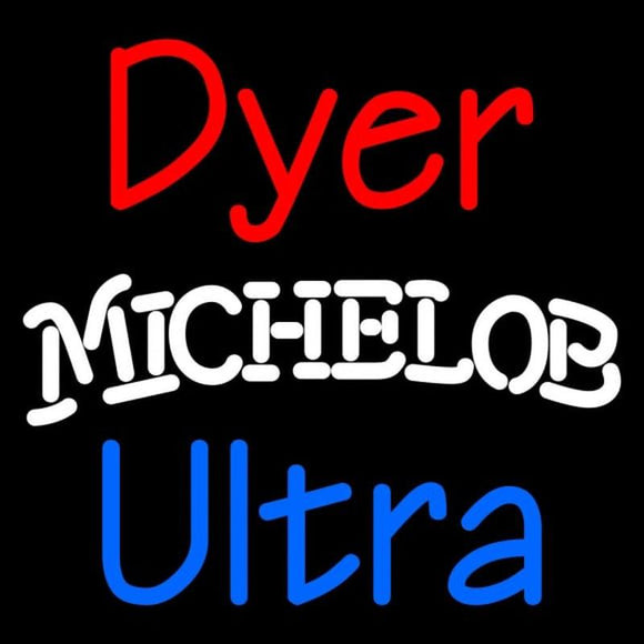 Custom Dyer Michelob Ultra Handmade Art Neon Sign