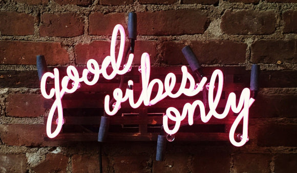 new Neon Sign Red Good Vibes Only Handmade Art Neon Sign