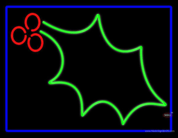 Christmas Holly Neon Sign