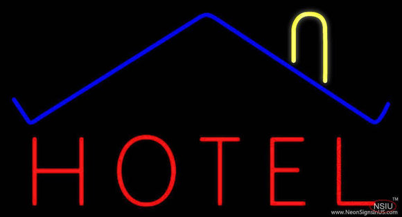 Hotel With Symbol Handmade Art Neon Sign