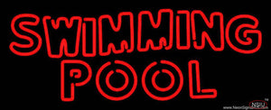 Swimming Pool Handmade Art Neon Sign