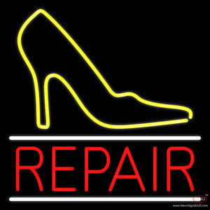 Yellow Sandal Logo Repair Real Neon Glass Tube Neon Sign