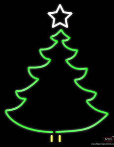 Christmas Tree Logo Real Neon Glass Tube Neon Sign