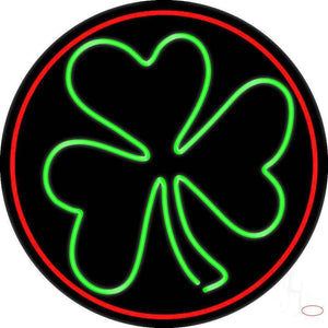 Happy St Patricks Day Shamrock Real Neon Glass Tube Neon Sign