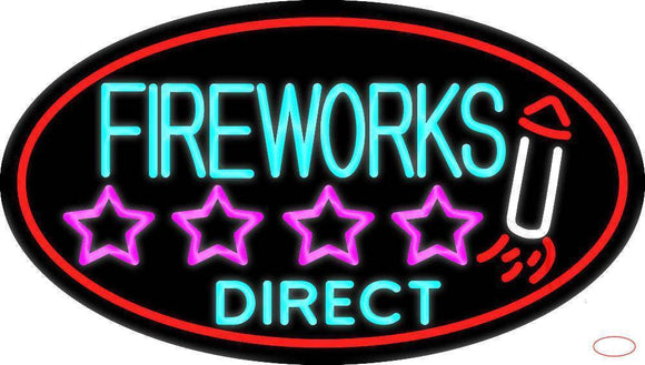 Fire Work Direct  Real Neon Glass Tube Neon Sign