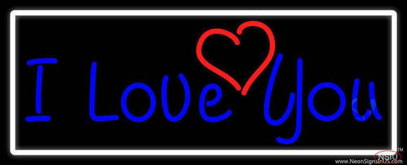 I Love You And Heart With White Border Real Neon Glass Tube Neon Sign