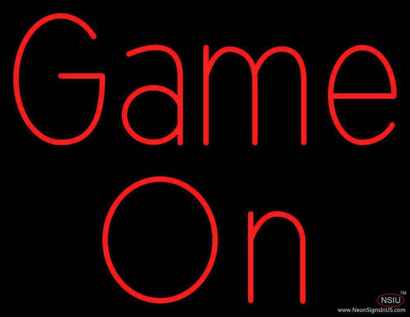 Red Game On Real Neon Glass Tube Neon Sign