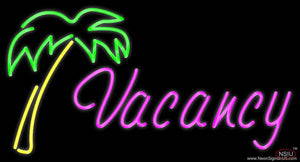 Vacancy Palm Tree Real Neon Glass Tube Neon Sign
