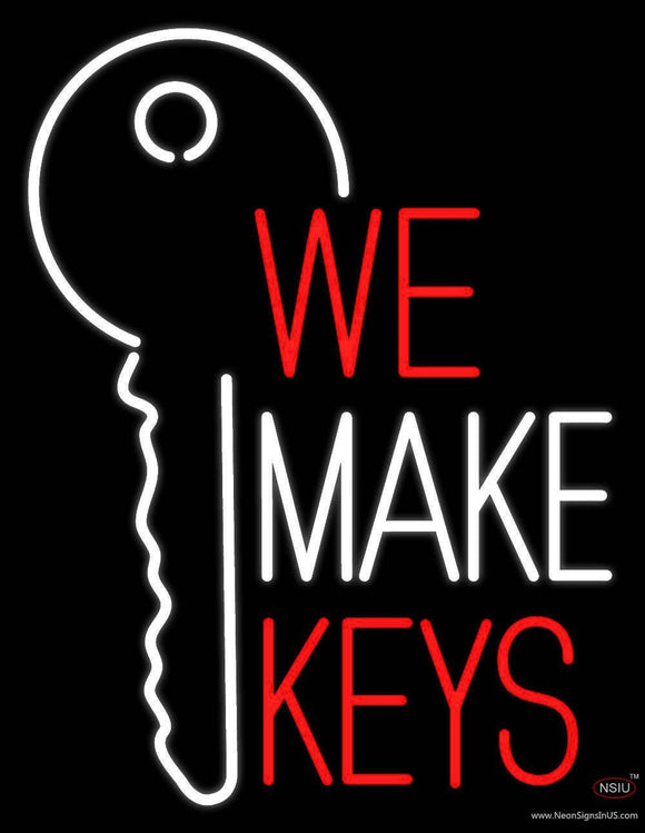 We Make Keys Handmade Art Neon Sign