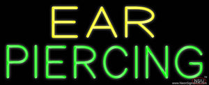 Yellow Green Ear Piercing Real Neon Glass Tube Neon Sign