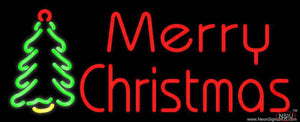Merry Christmas Tree Real Neon Glass Tube Neon Sign