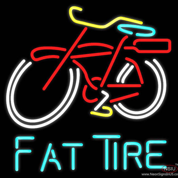 Fat Tire Beer Real Neon Glass Tube Neon Sign