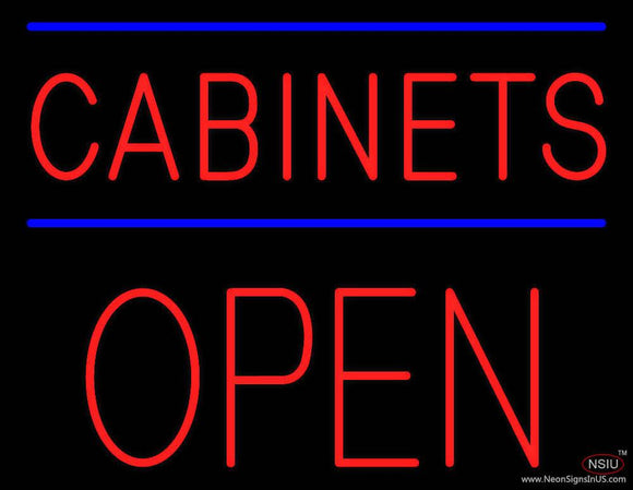 Cabinets Block Open Real Neon Glass Tube Neon Sign