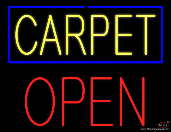Carpet Block Open Real Neon Glass Tube Neon Sign