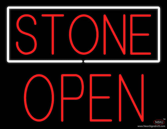 Stone Block Open Real Neon Glass Tube Neon Sign