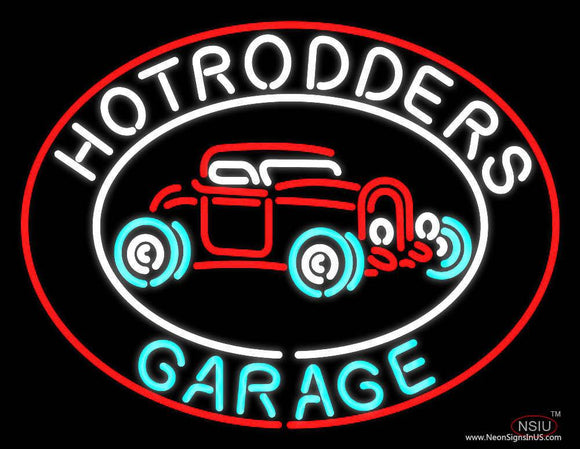 Hotrodders Garage - Beer Real Neon Glass Tube Neon Sign